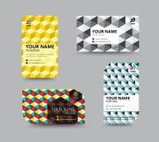Business card template, business card layout design, vector illu Stock Image