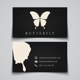 Business card template. Butterfly logo Royalty Free Stock Photo