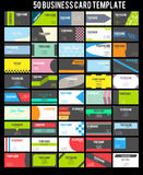 50 Business Card Template Collection. Creative design of 50 Business Card Template Royalty Free Stock Photo