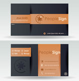Business Card Template Royalty Free Stock Photos