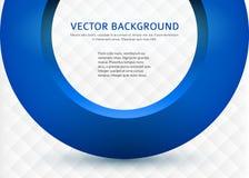 Business-card-template-3d-blue-circle Obraz Stock