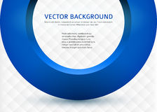 Business-card-template-3d-blue-circle. Label blank card template, white background square pattern and 3d blue half ring. Vector illustration EPS 10. Modern Stock Image