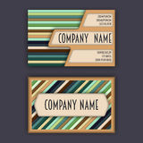 Business card template with 3D paper colorful lines. Background Stock Images