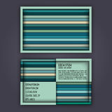 Business card template with 3D paper colorful lines. Background Royalty Free Stock Photos