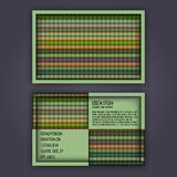 Business card template with 3D paper colorful lines. Background Royalty Free Stock Photography