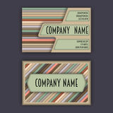Business card template with 3D paper colorful lines. Background Stock Photos