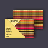Business card template with 3D paper colorful lines. Background Royalty Free Stock Image