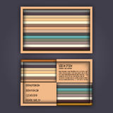 Business card template with 3D paper colorful lines. Background Stock Image