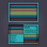 Business card template with 3D paper colorful lines Stock Images