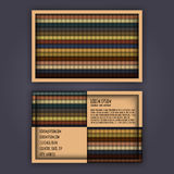 Business card template with 3D paper colorful lines Royalty Free Stock Photo