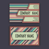 Business card template with 3D paper colorful lines Stock Image