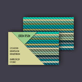 Business card template with 3D paper colorful lines Royalty Free Stock Photography