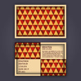 Business card template with 3D paper colorful triangle texture. Background Royalty Free Stock Image