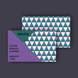 Business card template with 3D paper colorful triangle texture. Background Stock Photography