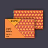 Business card template with 3D paper colorful triangle texture. Background Royalty Free Stock Images
