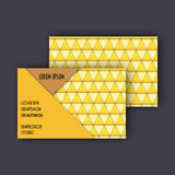 Business card template with 3D paper colorful triangle texture. Background Stock Photo