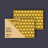 Business card template with 3D paper colorful triangle texture. Background Royalty Free Stock Photos