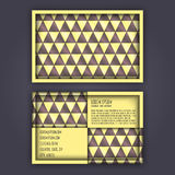 Business card template with 3D paper colorful triangle texture. Background Royalty Free Stock Photography
