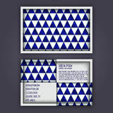 Business card template with 3D paper colorful triangle texture. Background Stock Photos
