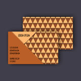 Business card template with 3D paper colorful triangle texture. Background Royalty Free Stock Photo