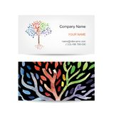 Business card template design. Art tree Royalty Free Stock Images