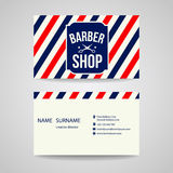 Business card Template design for barber shop Royalty Free Stock Image