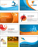Business card template design - vector file Royalty Free Stock Image