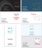 Business card template design - vector file Stock Photos