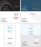 Business card template design - vector file stock photos