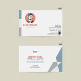 Business Card Template Design. Business Card Template Design Vector Illustration Stock Photography