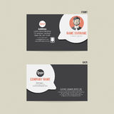 Business Card Template Design. Business Card Template Design Vector Illustration Royalty Free Stock Photo