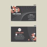 Business Card Template Design. Business Card Template Design Vector Illustration Stock Image