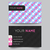 Business card template design. Vector illustration Royalty Free Stock Photography