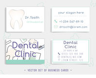 Business card template design for your dental clinic Royalty Free Stock Photography