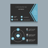 Business Card Template. Business card designs. Easy to adapt. Business vector set Royalty Free Stock Images