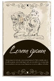 Business card template with a dragon. Vector illustration EPS8 Stock Image
