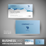Business card template - elegant vector illustration. Business card template  with crop area and marks. Elegant vector illustration Stock Photo