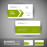 Business card template - elegant vector illustration Stock Photography