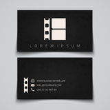 Business card template. Film strip concept logo. Business card template. Film strip conceptual logo. Vector illustration Stock Photography
