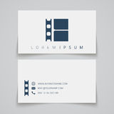 Business card template. Film strip concept logo Royalty Free Stock Photo