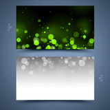 Green business card template. Abstract  background Stock Image