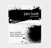 Business card template Stock Photography