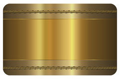 Business card template. Gold card. Royalty Free Stock Photo