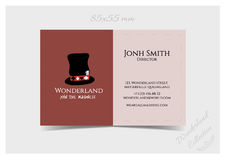 Business Card Template - Hatter Hat Royalty Free Stock Photography