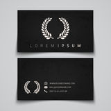 Business card template. Laurel concept logo Royalty Free Stock Photography