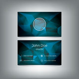 Business card template on low polygonal background Stock Photos