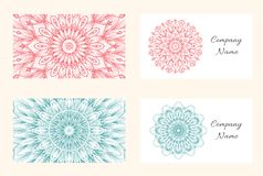 Vector mandala business card template. royalty free illustration