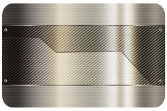 Business card template.Metal abstract background. Stock Photography