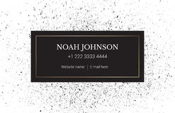 The business card template. Minimal style. Stock Photos