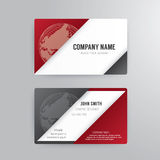 Business card template modern abstract concept design. Stock Photos